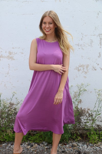 Waiting for Daylight Oversized Sleeveless Dress with Pockets in Multiple Colors - Sizes 4-12