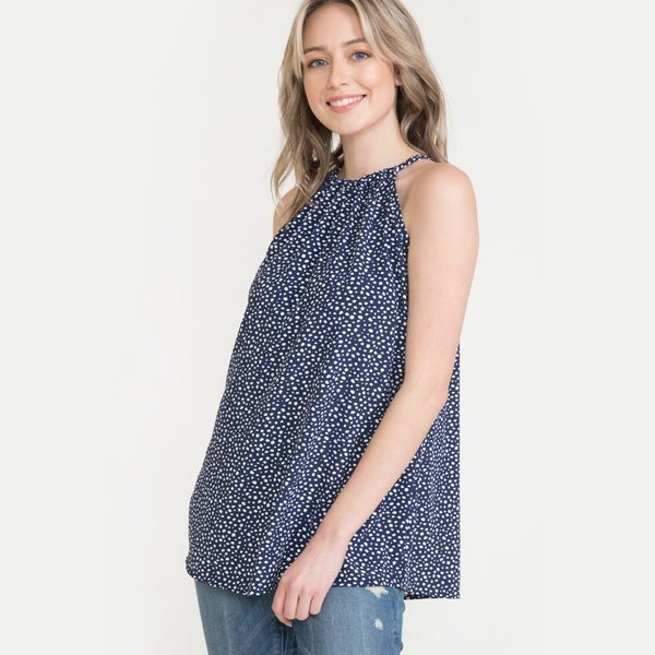 Wander Together Navy and White Polka Dot Top - Sizes 12-20