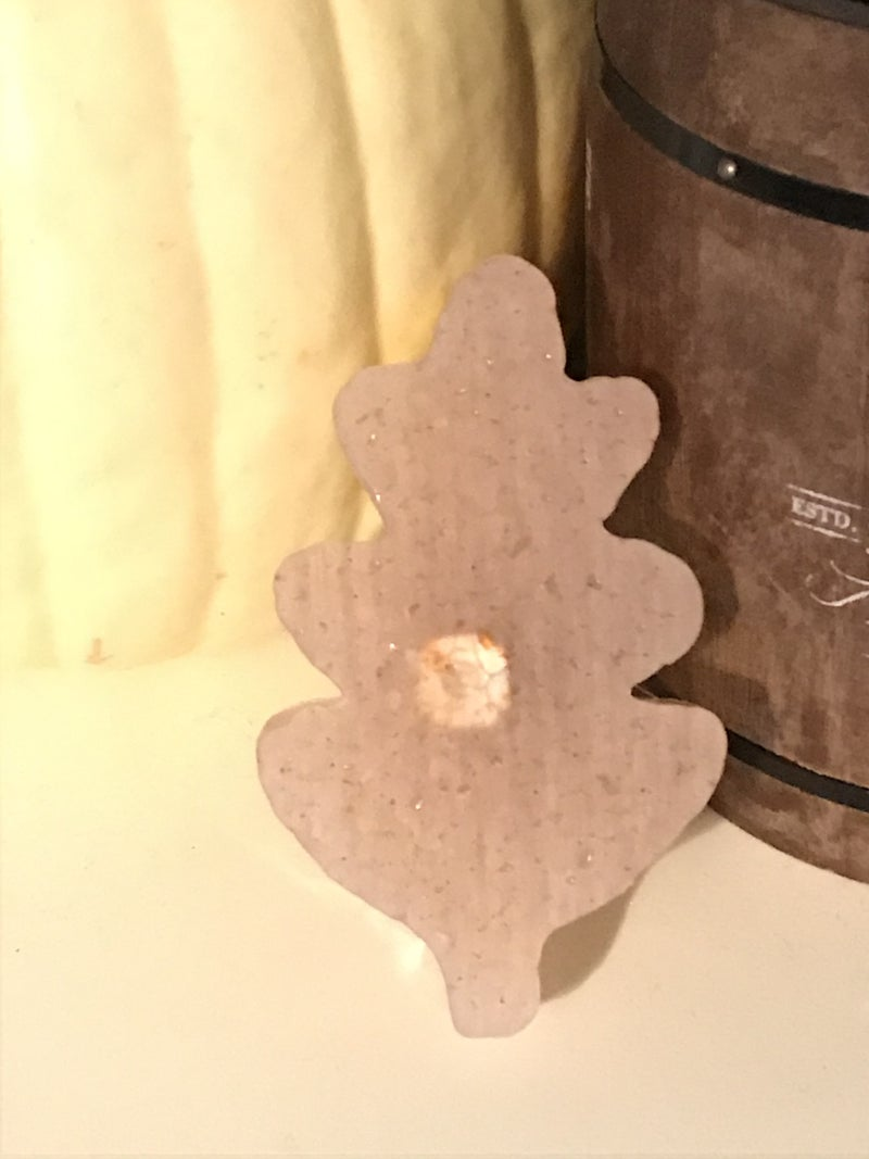 Autumn Spice Leaf Shaped Car Freshie with Vent Clip or Jute