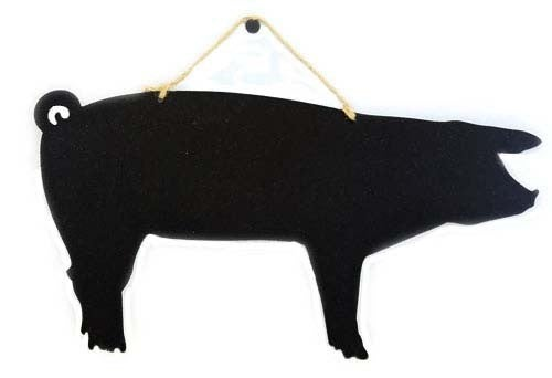 Black Wooden Chalkboard Animals with Jute Rope