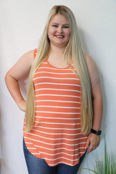 Off To A Good Start Striped Tank Top in Multiple Colors - Sizes 12-20