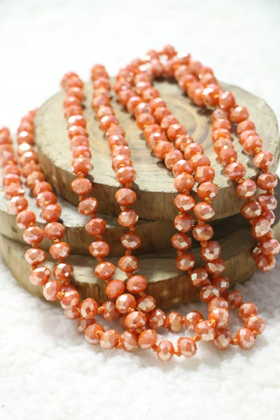 Terra Cotta Point Of Perfection Beaded Necklace