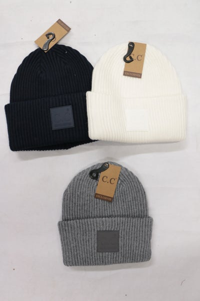 Miracles Happen Ribbed CC Beanie in Multiple Colors