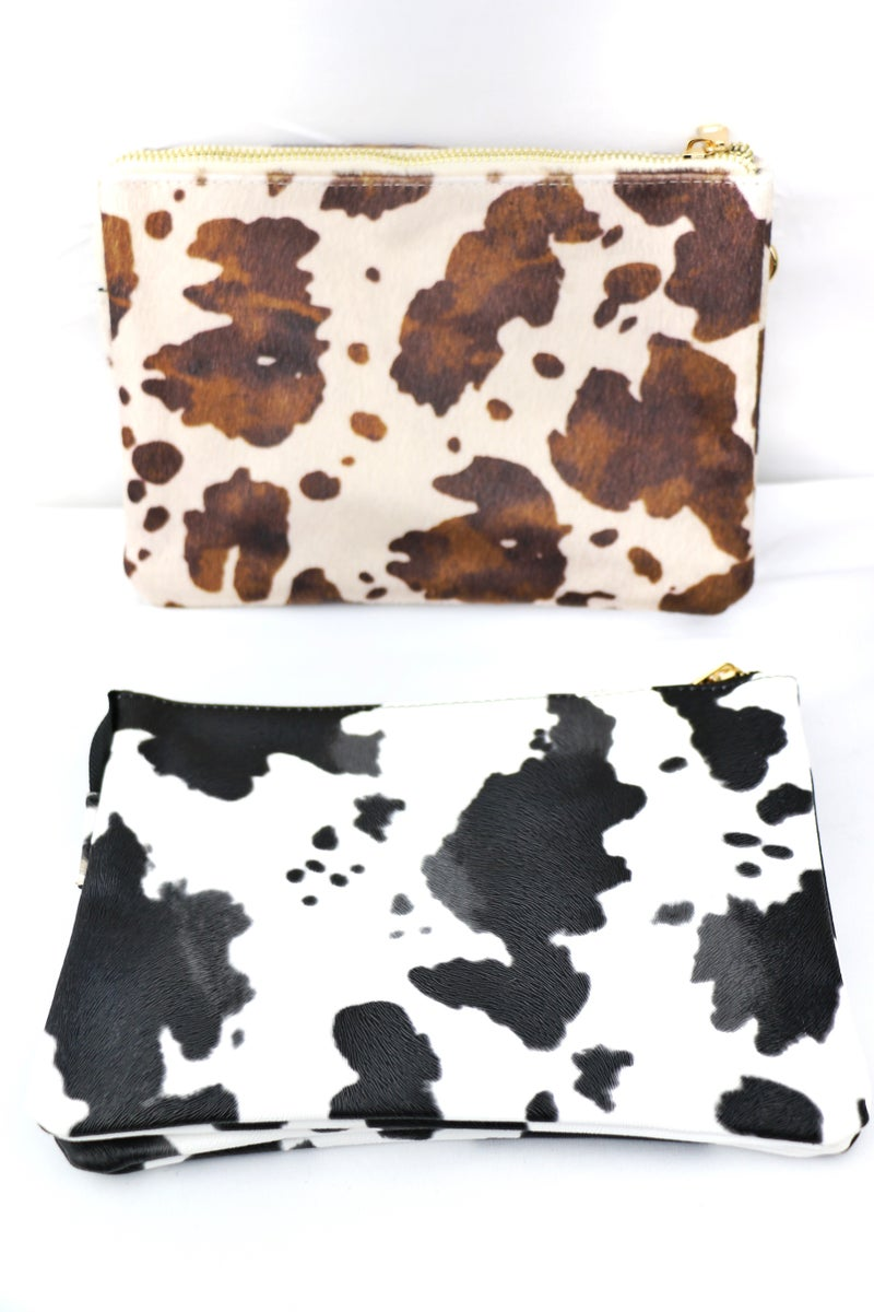 Enough Cow Print Cross Body Bag In Multiple Colors