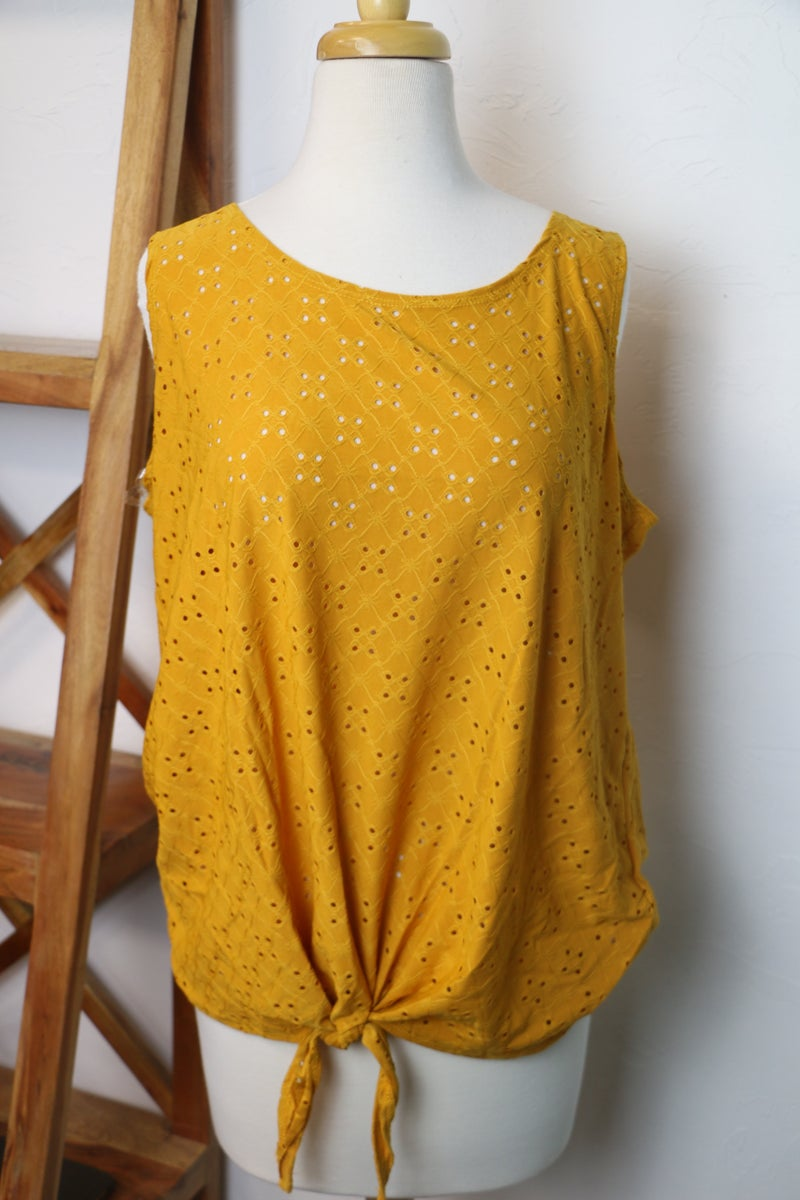 Living for the Moment Eyelet Tank Top in Multiple Colors - Sizes 12-20