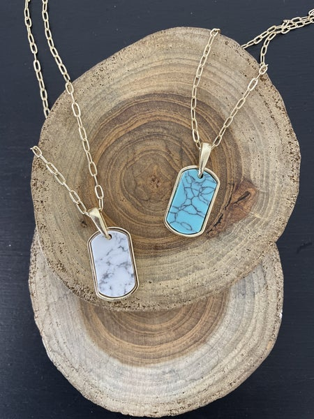 Every Day Short Gold Chain With Stone Pendant In Multiple Colors