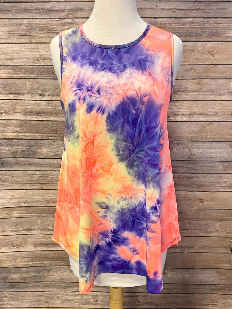 Living Bright Tie Dye Tank- Sizes 4-20