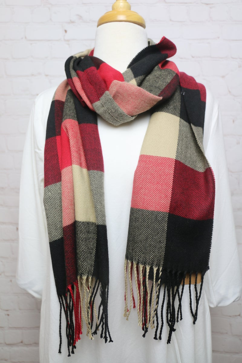Waiting out the Cold Plaid Scarf in Multiple Colors