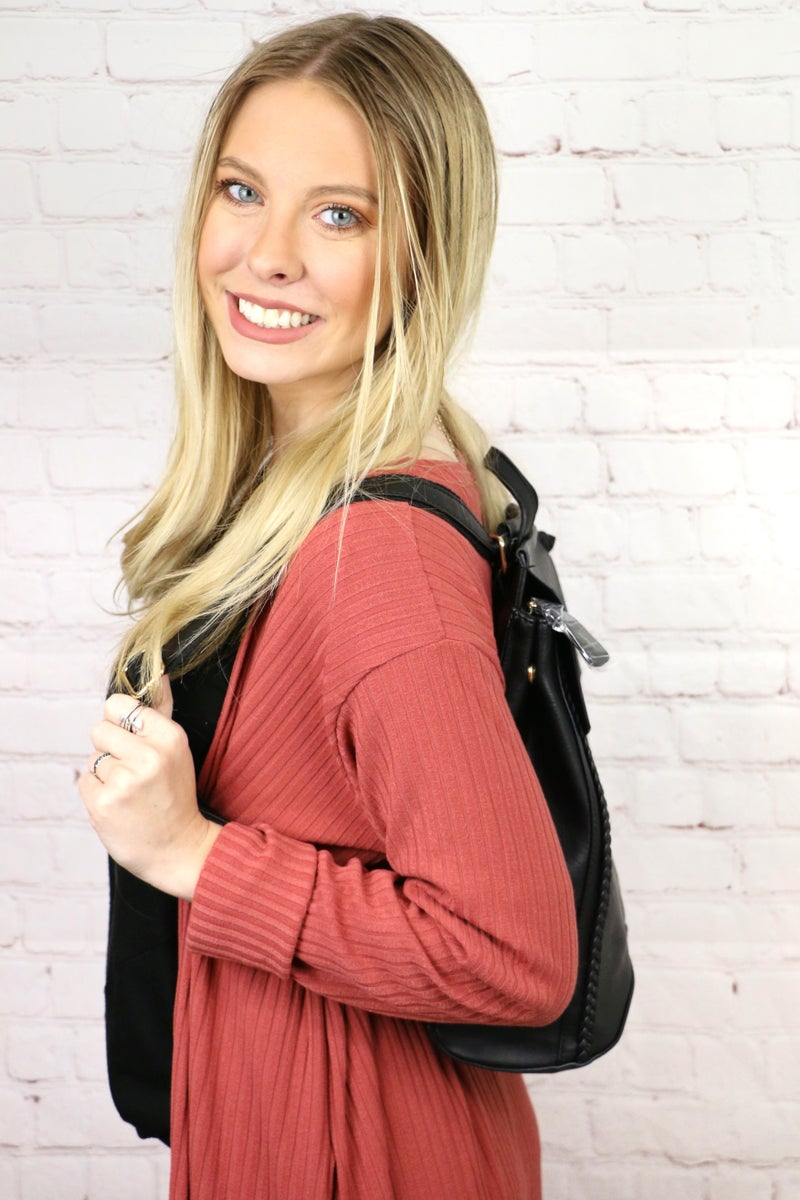 Happy Together Convertible Backpack With Expandable Side In Multiple Colors