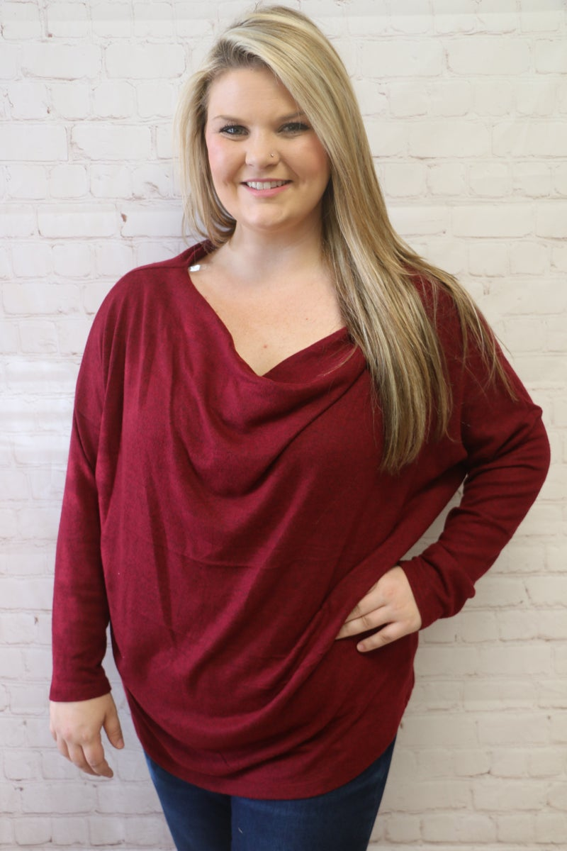 Already Been There Off the Shoulder Heathered Tunic in Multiple Colors - Sizes 4-20