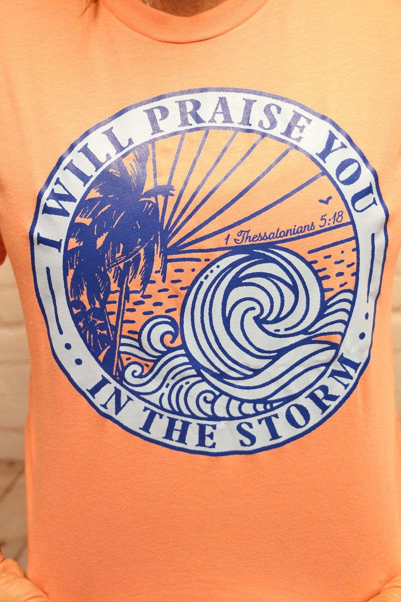 I Will Praise You In The Storm August 2020 Month Of Ministry Tee - Sizes 4-20