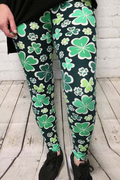 Sultry Shamrock Leggings ~ One Size 2-12