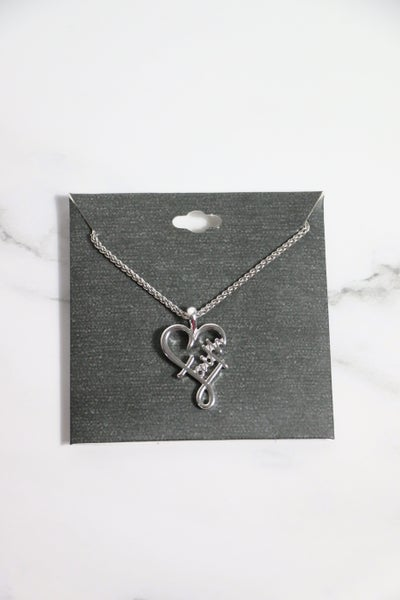 Have A Little Faith Heart Silver Necklace