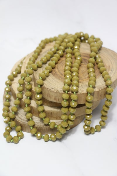 Pea Soup Point Of Perfection Beaded Necklace