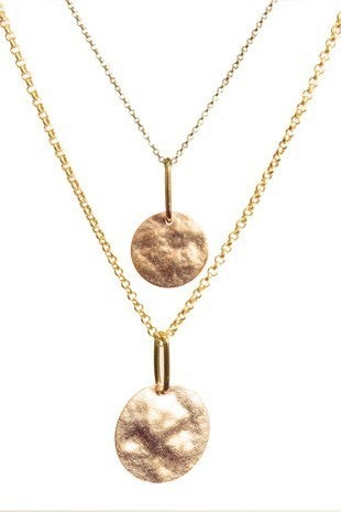 Sweetest Thought Golden Double Strand Necklace