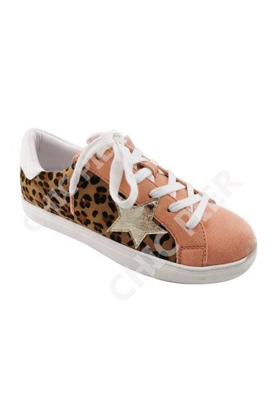 Let's Get Wild Leopard & Rose Sneakers