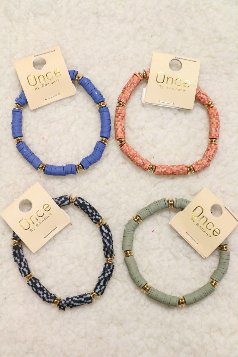Be Mine Rubber Disk Bracelet In Multiple Colors