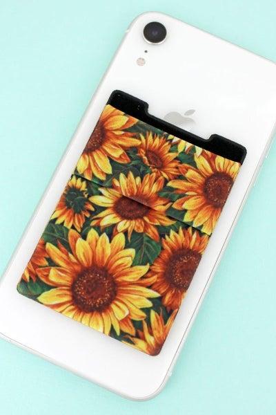 Fun & Useful Stick-On Phone Pocket in Multiple Prints