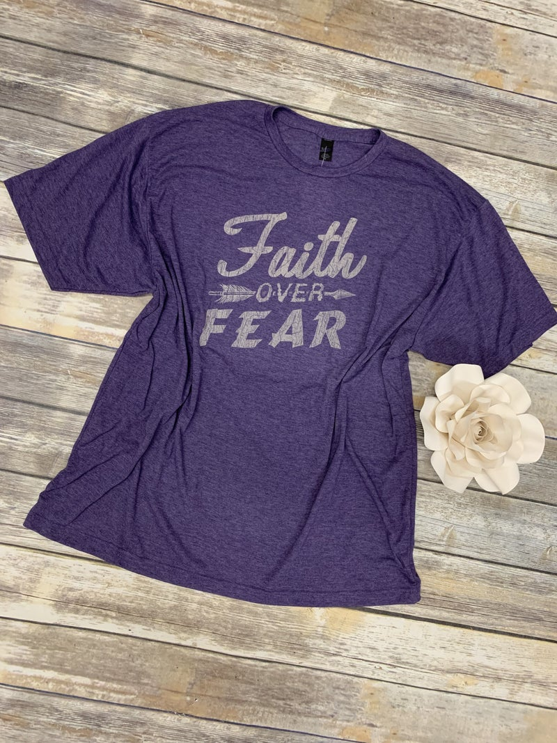 Faith Over Fear Graphic Tee in Multiple Colors  - Sizes 4-20***PRE-ORDER***