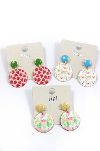 In The Game Double Metal Circle Earring In Multiple Patterns