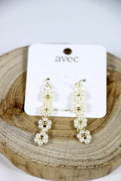 Already Here Pearl Flower Drop Earring