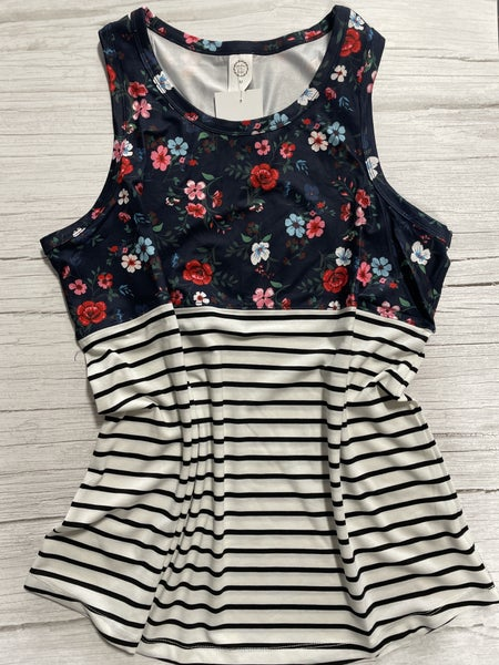 It's The Dream Floral & Striped Tank Top - Sizes 4-20