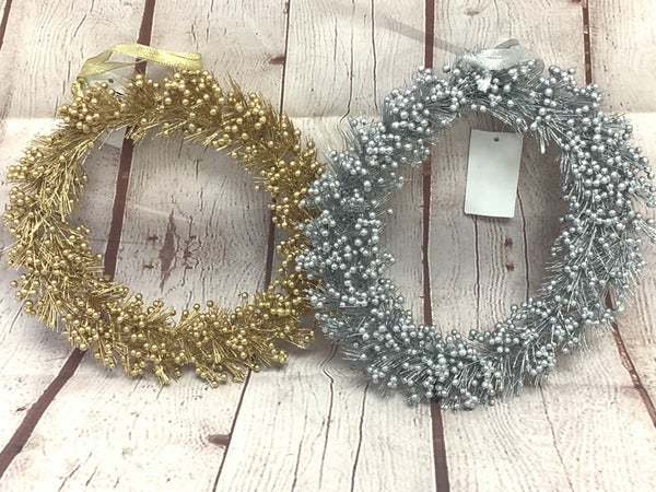 Glitter And Glitz Pine And Berries Wreath In Multiple Colors