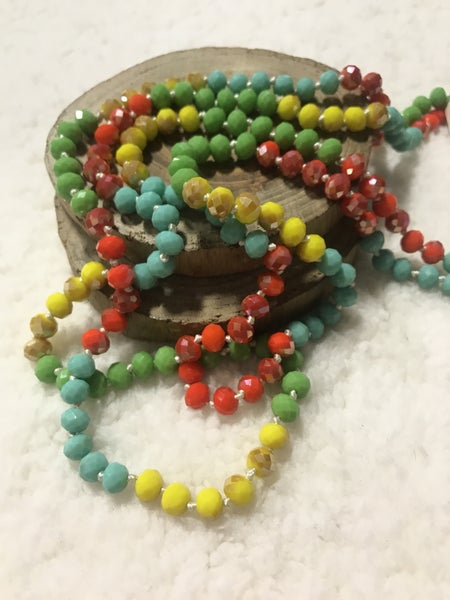 Tropical Skittles Point of Perfection Beaded Necklace