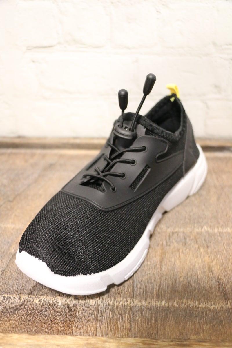 Watch Me Walk Black Sneaker-Sizes-7-11
