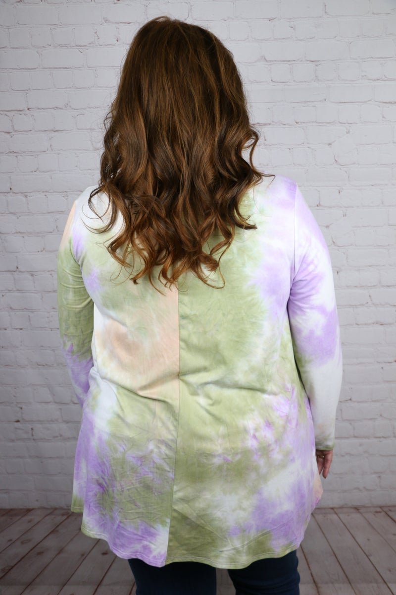 In Your Glow Tie-Dye Top - Sizes 12-20