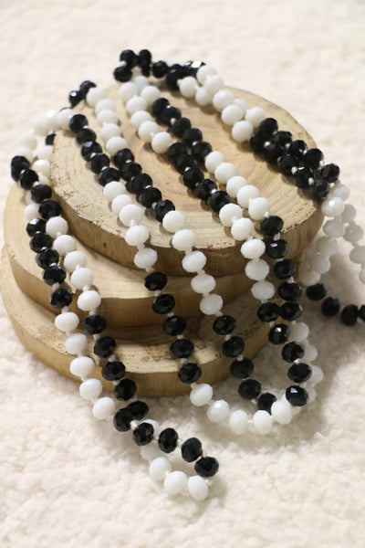 Salt and Pepper Point Of Perfection Beaded Necklace
