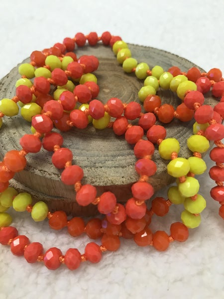Candy Corn Point of Perfection Beaded Necklace