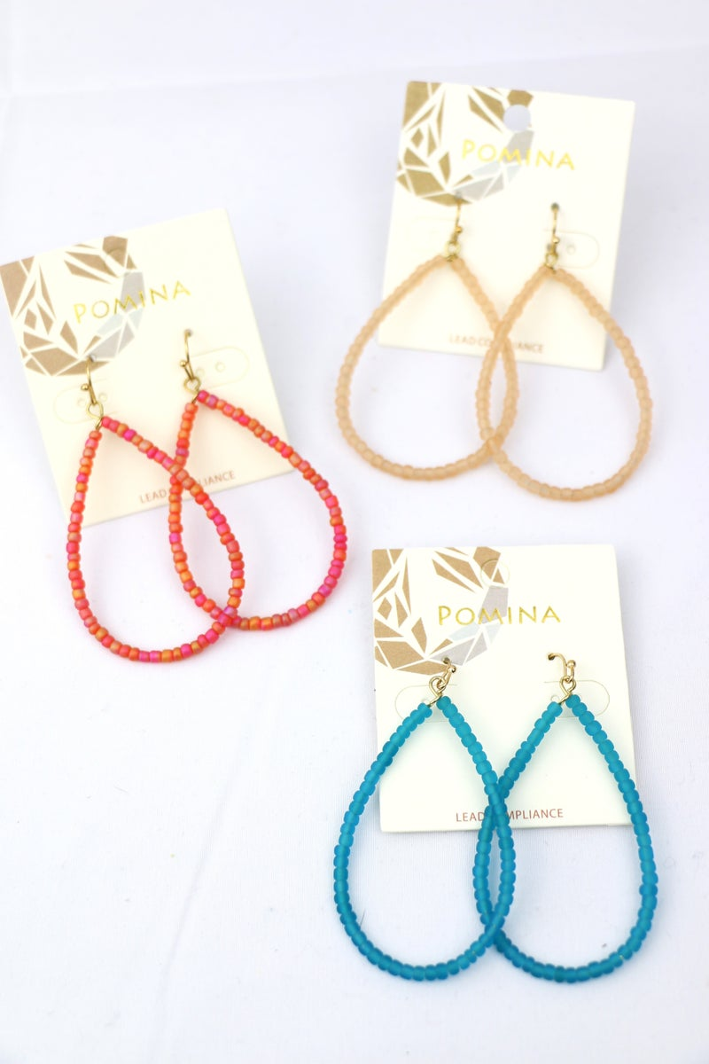 All The Time Beaded Teardrop Earring In Multiple Colors