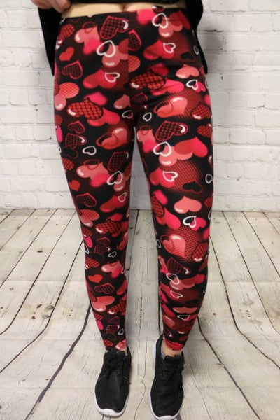 Be With Me Heart Leggings- Sizes 4-20