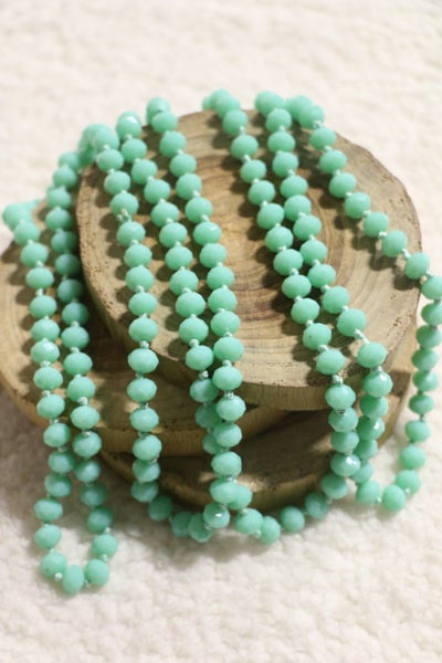 Seafoam Point Of Perfection Beaded Necklace