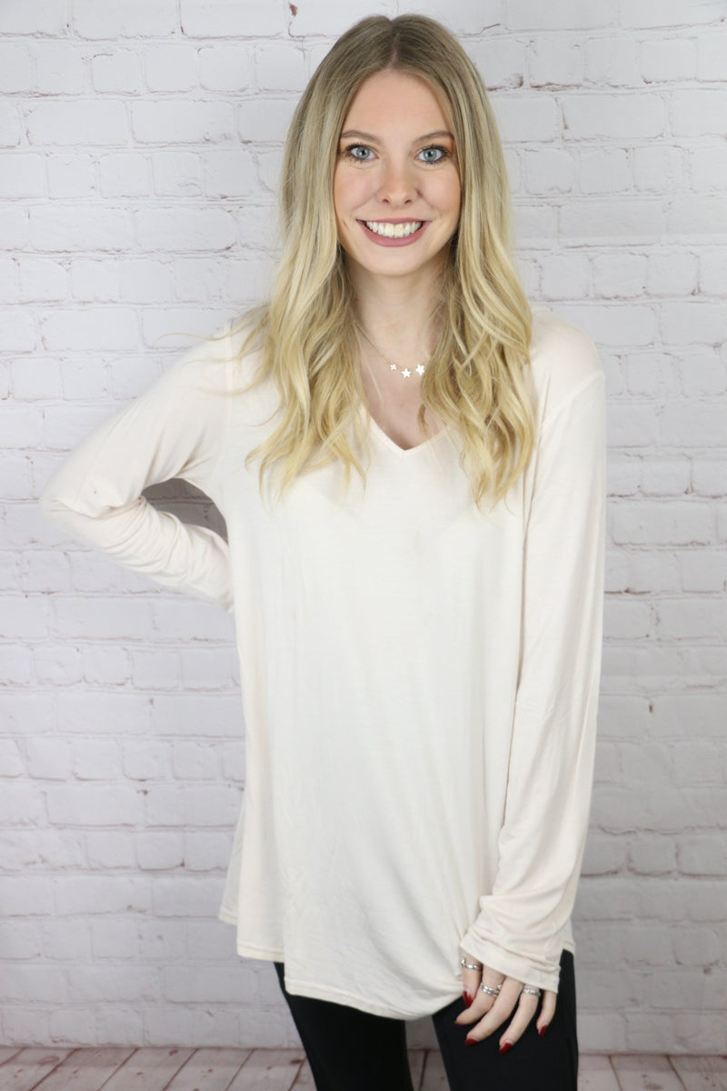 Be Happy Long Sleeve Basic Top in Multiple Colors - Sizes 4-20