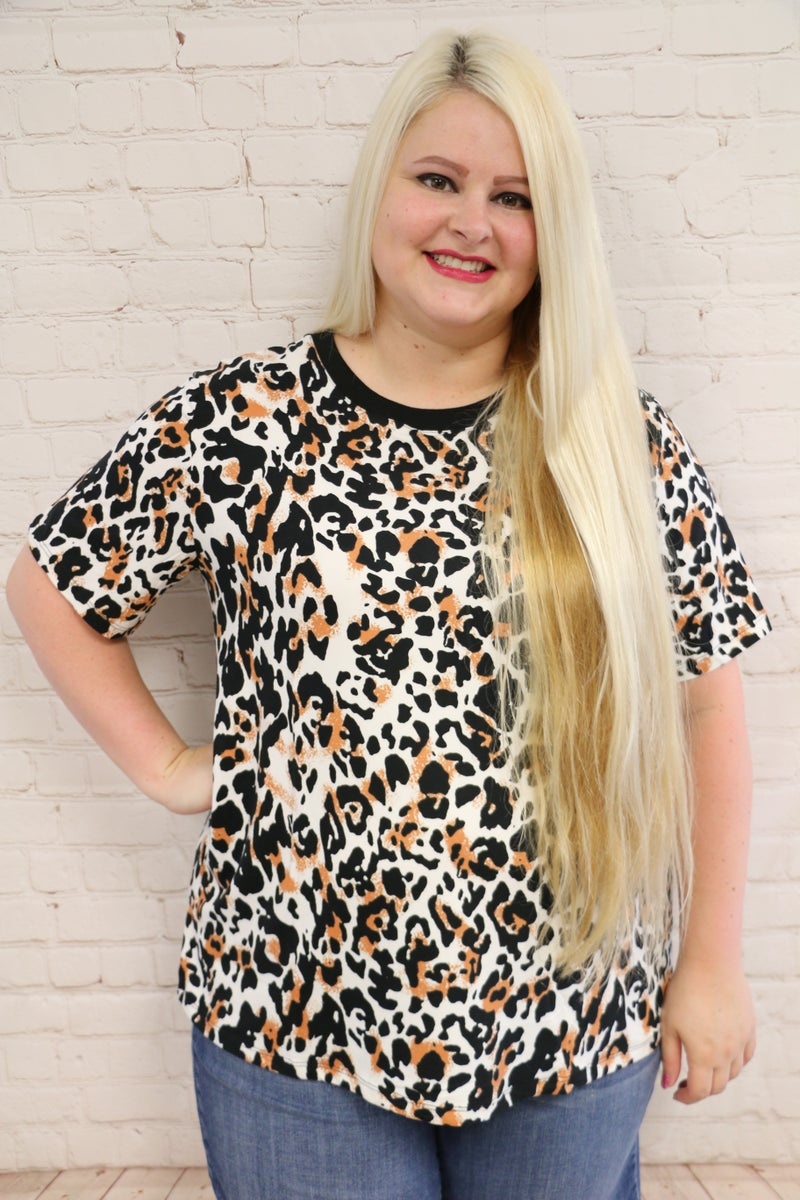 Puuurrrfectly Beautiful Leopard Short Sleeve Top - Sizes 4-18