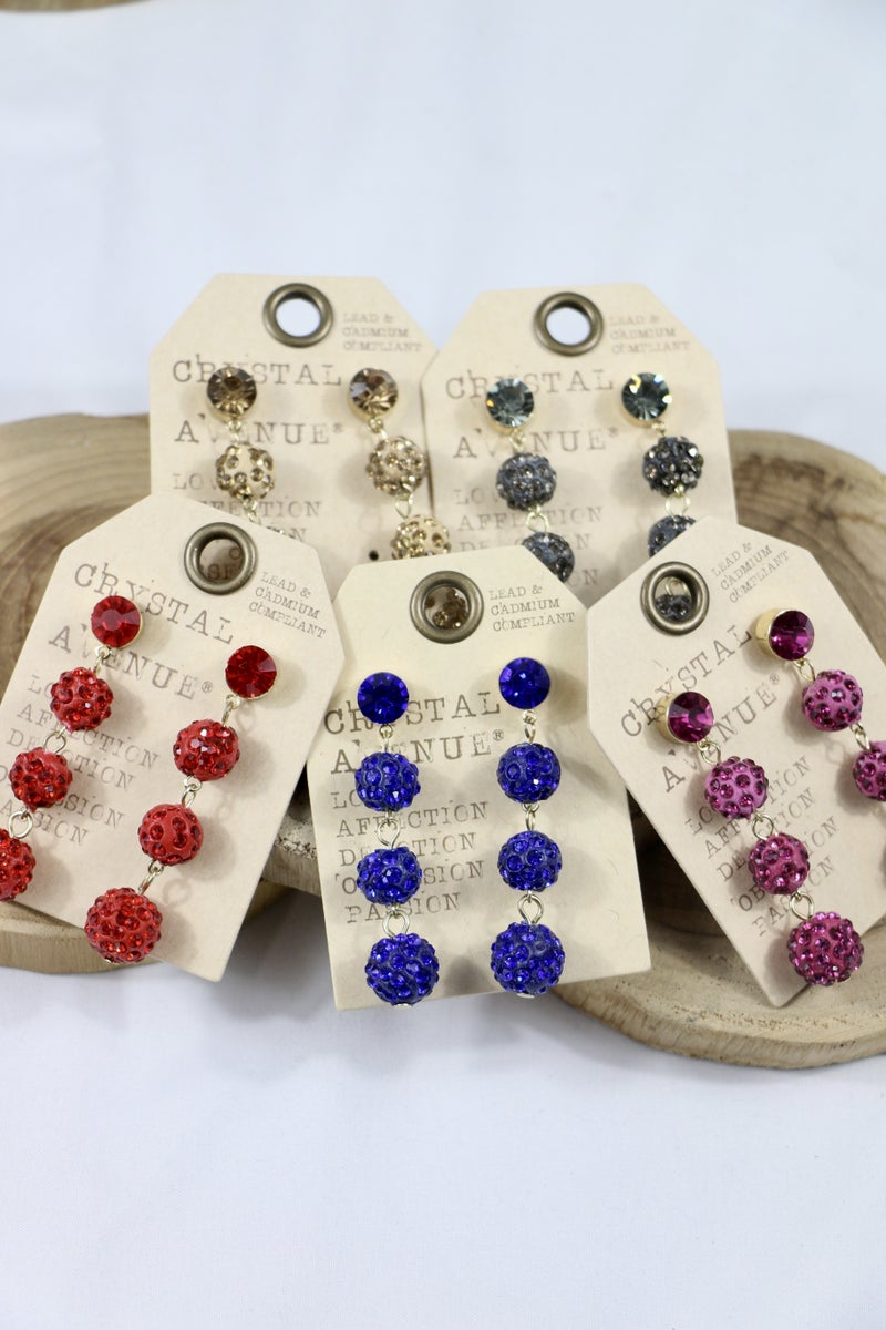 Hope Floats  Crystal And Shimmer And Shine Bead Drop Earring In Multiple Colors