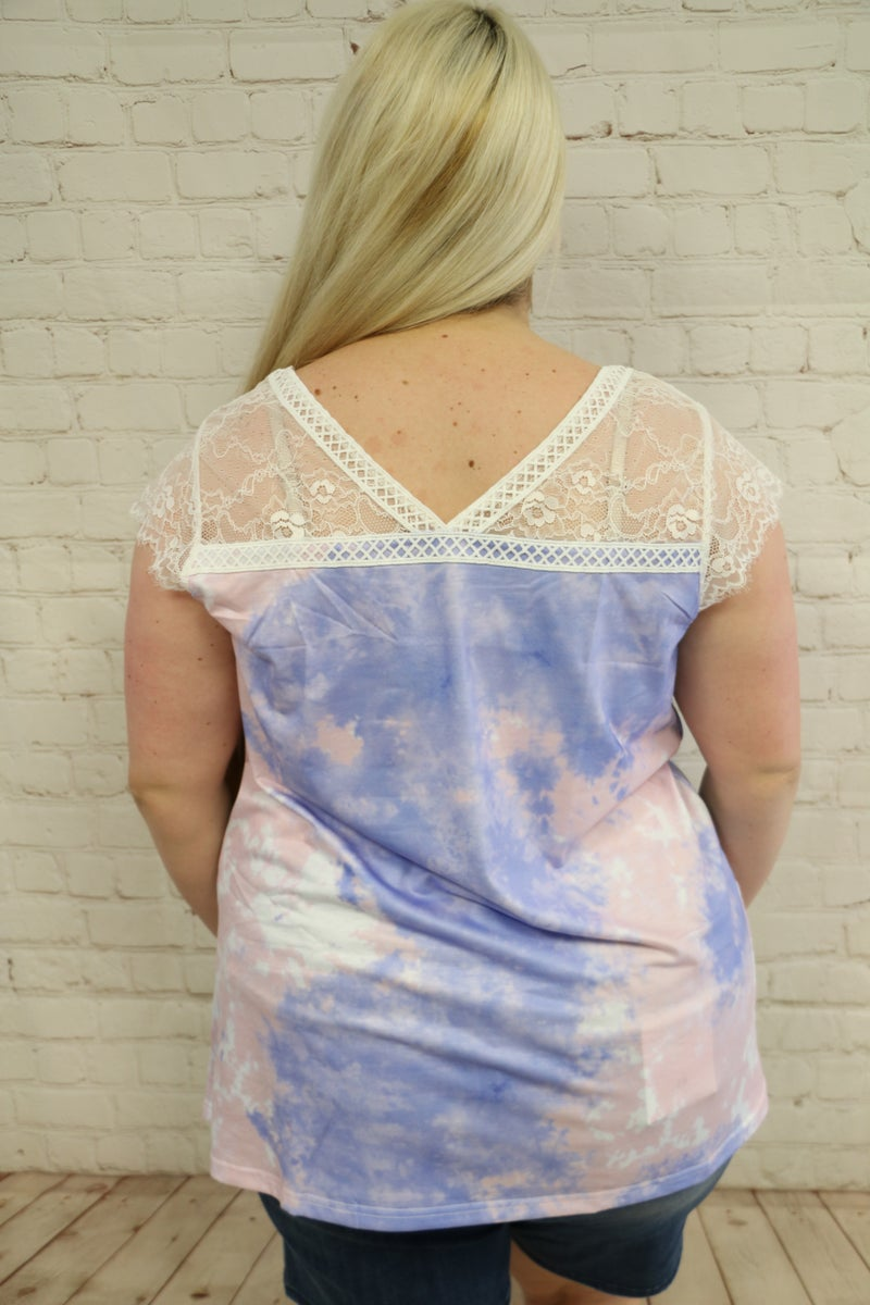 All My Love Lace Sleeve Top With Criss Cross Detail in Multiple Colors - Sizes 4-20