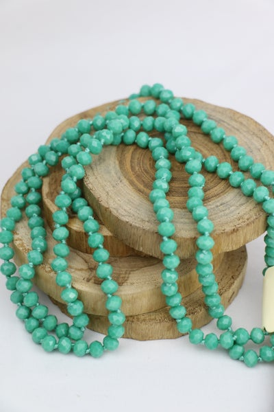 Turquoise Point Of Perfection Beaded Necklace