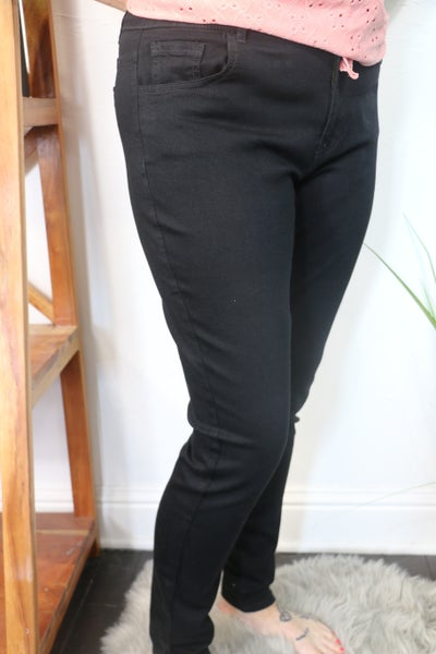 The Melissa Black Body Shaping Skinny Jean - Sizes 12-20