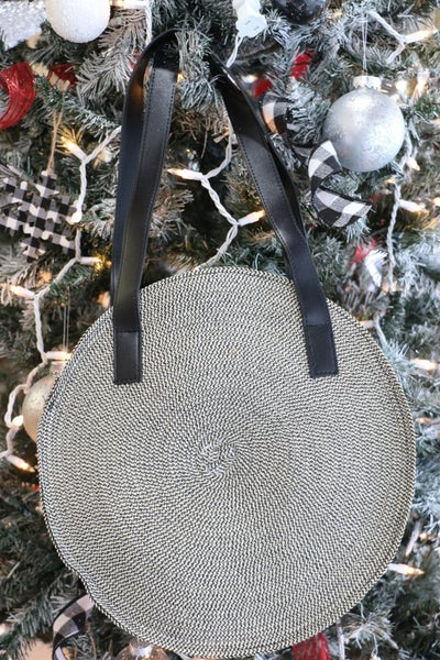 All For Fun Wicker Circle Bag