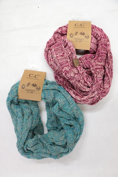 Sweetest Moment Multicolored Crochet CC Infinity Scarf in Multiple Colors