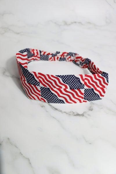 All American Girl - American Flag Headband