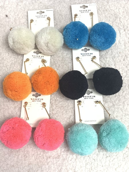 You're The Pom Large Pom Pom Earring In Multiple Colors