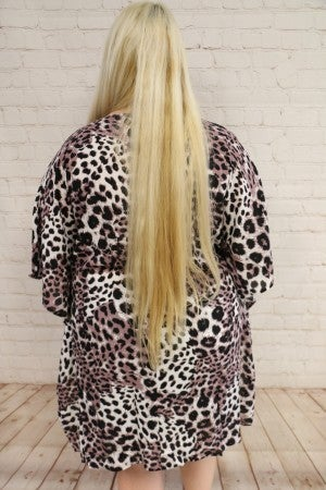 Trackless Leopard V Neck High Low Top Sizes 4-20