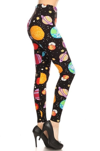 Out Of This World Black Outer Space Legging- Sizes 4-12
