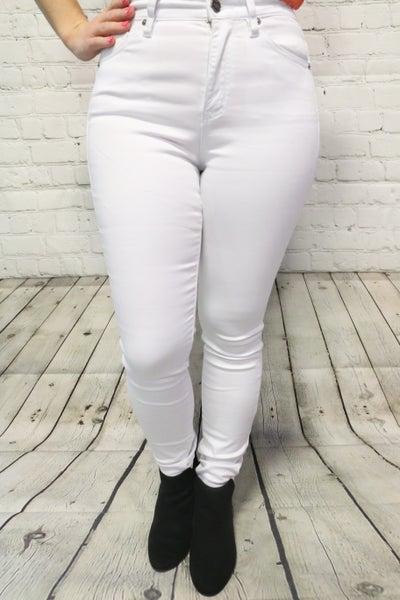 The Aubree White MidRise Super Skinny Jean- Sizes- 5-15