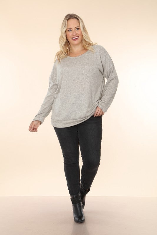 Better Believe the Hype Light Knit Drop Shoulder Top in Multiple Colors  - Sizes 12-20