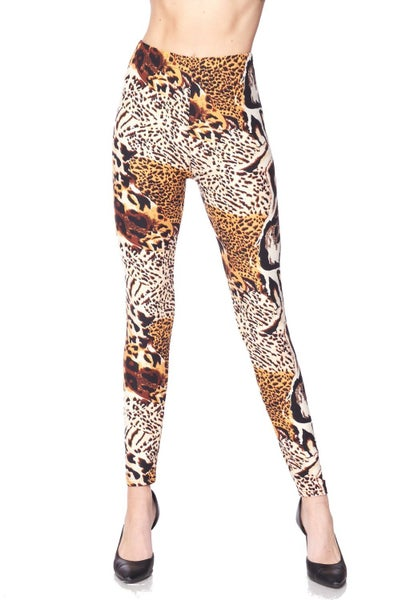 Jungle Princess Animal Print Legging - Sizes 12-20